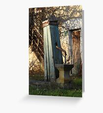 Water Well, Graz, Austria Greeting Card