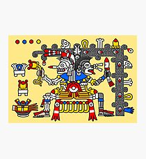 Aztec Gods - Codex Laud 11 Photographic Print