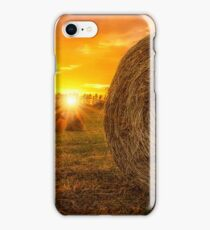Hay Bale Sunrise iPhone Case/Skin