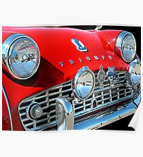TRIUMPH TR3 RED 2 Poster