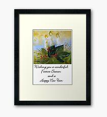 A Card for Christmas Framed Print