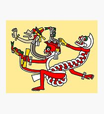 Red aztec Monster - Codex Laud 44 Photographic Print