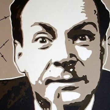 Richard P Feynman by Dan-Carman