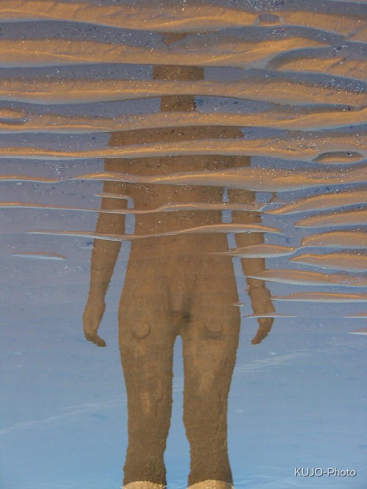 Reflection, Crosby Beach by KUJO-Photo