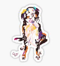 cool tshirt, dog Iggy Sticker