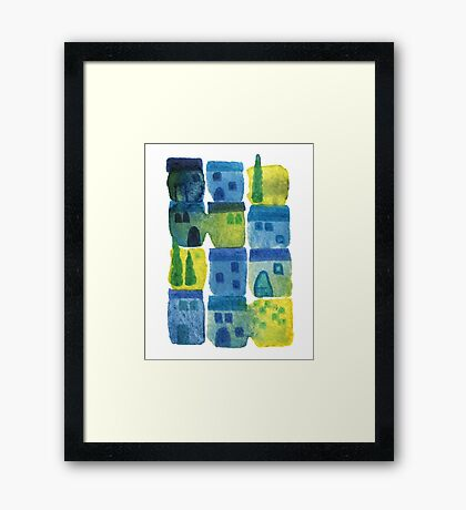 7am in Tuscany Framed Print
