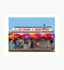 Ice Cream, Torquay Art Print