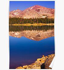 Mountain Lake Reflections Poster