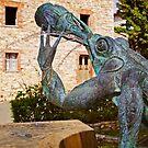 Chianti Frog Fountain by Lynnette Peizer