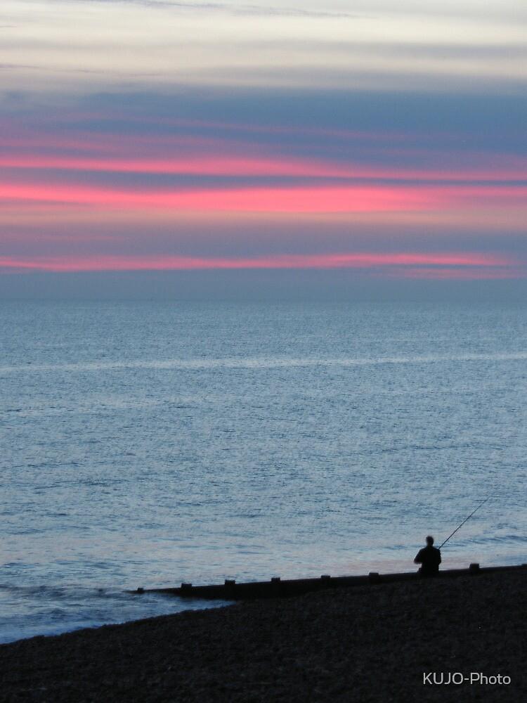Fisherman in Sunset by KUJO-Photo