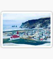 Town of Vík, Iceland  Sticker