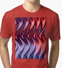 Abstract Flames Tri-blend T-Shirt