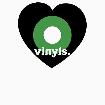 Love Vinyls Tee by TooManyPixels