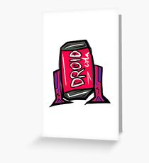 DROID COLA Greeting Card