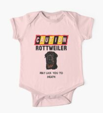 Caution Rottweiler May Lick You To Death One Piece - Short Sleeve