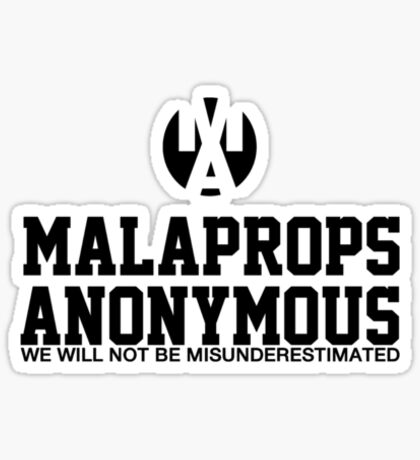 Malaprops Anonymous Sticker