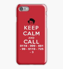 Moss Keep Calm And Call iPhone Case/Skin