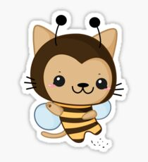 Bee Cat Sticker