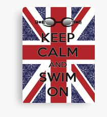 Swim London Canvas Print