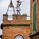 Montepulciano Clock Tower by Lynnette Peizer
