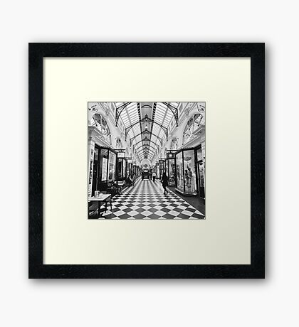 """""""Checking"""" out the shops Framed Print"""