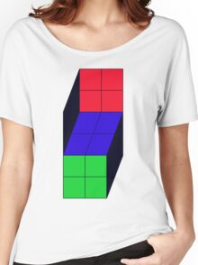 Trippy Cube Women's Relaxed Fit T-Shirt