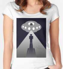 First contact / Alien abduction Women's Fitted Scoop T-Shirt