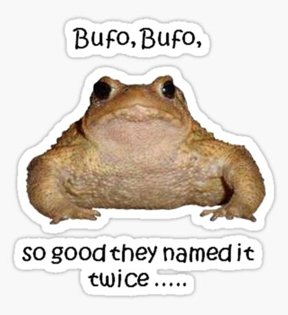 Bufo Bufo Toad, So Good They Named It Twice Sticker