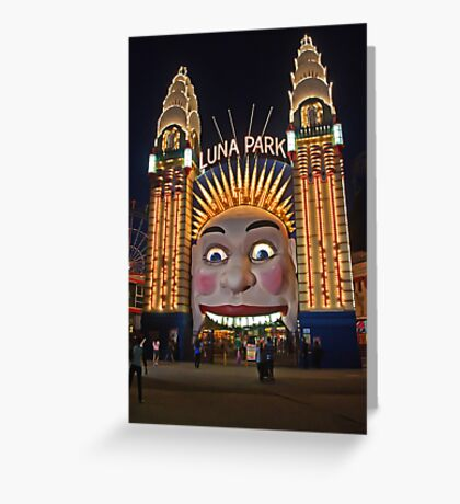 Old King Cole Welcome to Luna Park Greeting Card