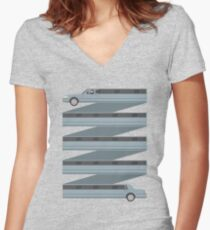 Stretched Out Limo Women's Fitted V-Neck T-Shirt