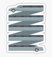 Stretched Out Limo Sticker