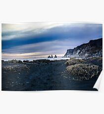 Black Sand Beach at Vik, Iceland Poster