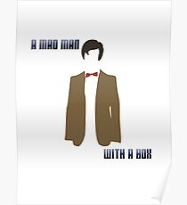 (Rectangle) A mad man with a box Poster