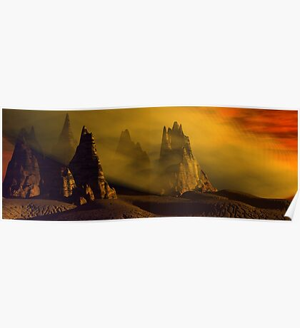 Dust Storm At Sunset Poster