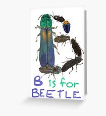 B is for Beetle Greeting Card