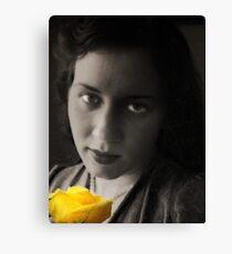 Yellow Morning Rose Canvas Print