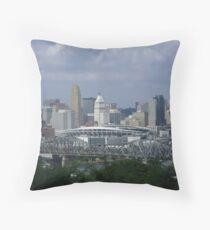 Downtown Cincinnati Throw Pillow