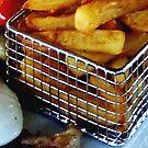 A Slice of Gammon Egg & Chips by BevsDigitalArt