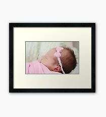 Welcome baby Tilly Framed Print