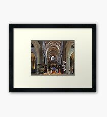 Christmas Nativity Salisbury Cathedral Framed Print