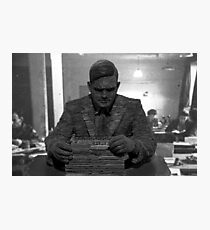 Alan Turing Statue Photographic Print