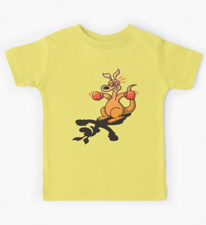 Boxing Kangaroo attacked by his own shadow! Kids Clothes
