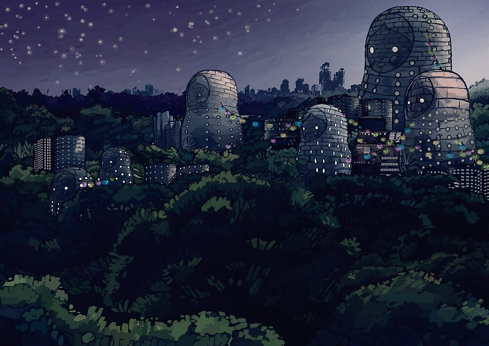 The Magic City - Night by Skibble