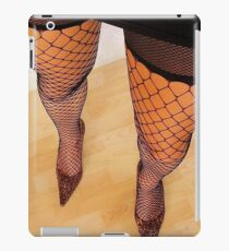 Long Sexy Legs In High Heels and Fishnet Stockings iPad Case/Skin