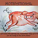 Motivation: never give up! by Elizabeth Kendall
