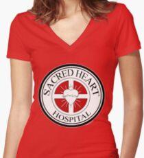 Sacred Heart Hospital Women's Fitted V-Neck T-Shirt