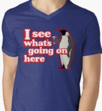 Drunken Penguin Jealousy Men's V-Neck T-Shirt