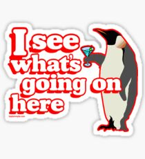 Drunken Penguin Jealousy Sticker