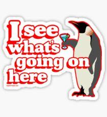 Drunken Penguin Jealousy Sticker
