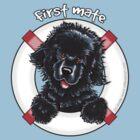 Black Newfie First Mate by offleashart